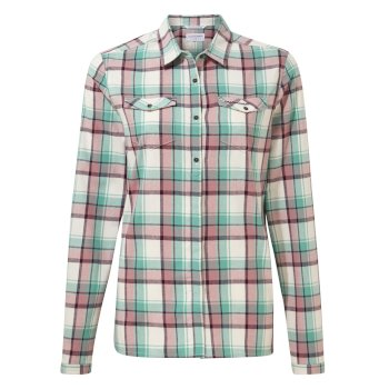 Craghoppers Genevive Long Sleeved Shirt - Peppermint Check