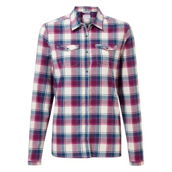 Craghoppers Genevive Long Sleeved Shirt - Blackcurrant check