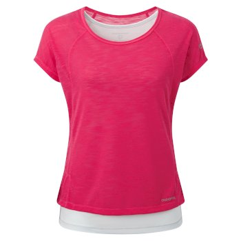 Craghoppers Pro Lite T-Shirt Electric Pink Dove