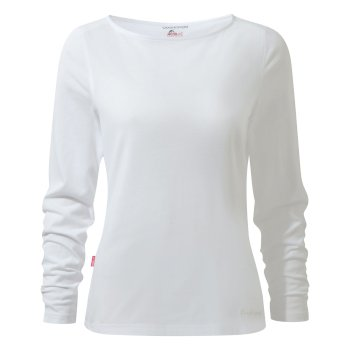 Craghoppers NosiLife Erin Long-Sleeved Top  - Optic White