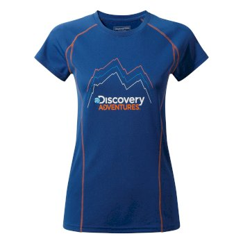 Craghoppers Discovery Adventures Short-Sleeved Tee Deep Blue