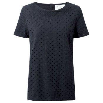 Craghoppers Yara Short Sleeved Top Dark Navy