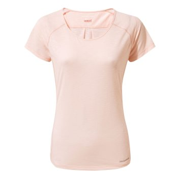 Craghoppers NosiLife Harbour Short-Sleeved Top - Seashell Pink