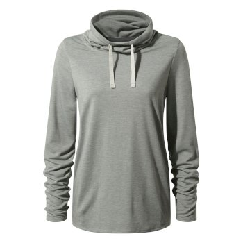 Craghoppers First Layer Long Sleeved Top - Soft Grey Marl