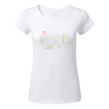 Craghoppers Cornelia Short-Sleeved Tree Landscape T-Shirt - Optic White