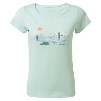 Craghoppers Cornelia Short-Sleeved Tree Landscape T-Shirt - Capri Blue