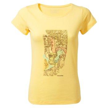 Craghoppers Cornelia Short-Sleeved Watercolour Landscape T-Shirt - Buttercup