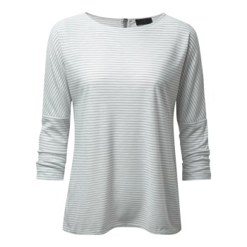 Craghoppers NosiLife Shelby Long-Sleeved Top - Soft Grey Combo
