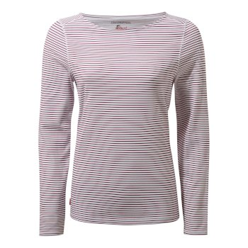 Craghoppers NosiLife Erin II Long-Sleeved Top  - Amalfi Rose Stripe