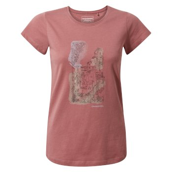 Craghoppers Lima Short-Sleeved T-Shirt - Cassis Watercolour City
