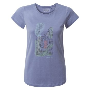 Craghoppers Lima Short-Sleeved T-Shirt - Paradise Blue Watercolour City