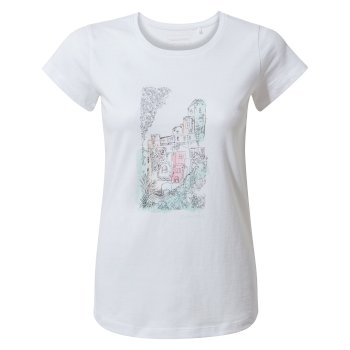 Craghoppers Lima Short-Sleeved T-Shirt - Optic White Watercolour City