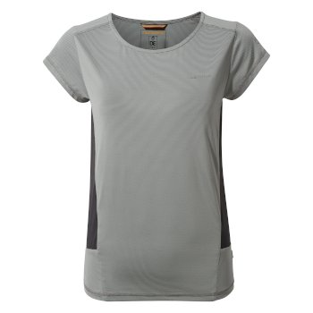 Craghoppers Atmos Short-Sleeved T-Shirt - Light Cloud Grey