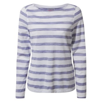 Craghoppers NosiLife Erin Long Sleeved Top - Paradise Blue Stripe