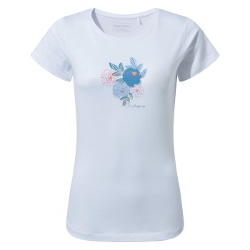 Craghoppers Miri Short Sleeved T-Shirt - Optic White Floral
