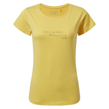 Craghoppers Miri Short Sleeved T-Shirt - Limoncello Quote