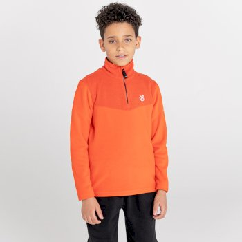 Joyous Fleece mit halblangem Reißverschluss für Jungen Orange
