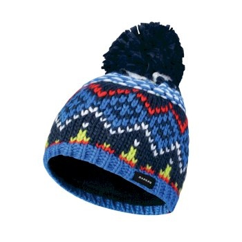Dare2b Kids Badges Bobble Beanie Hat Admiral Blue