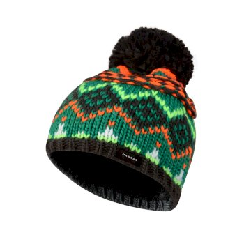 Dare2b Kids Badges Bobble Beanie Hat Ebony Grey