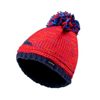 Dare2b Kids Ice Champ Bobble Beanie Hat Code Red