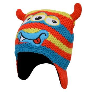 Brainstorm - Jungen Beanie-Mütze mit Tiermotiv - Gesicht Fiery Red Monster