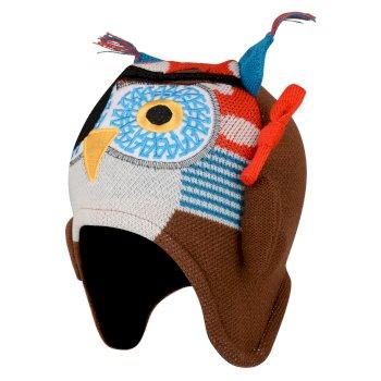 Brainstorm - Jungen Beanie-Mütze mit Tiermotiv - Gesicht Fiery Red Owl