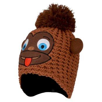 Brainstorm - Jungen Beanie-Mütze mit Tiermotiv - Gesicht Pecan Monkey