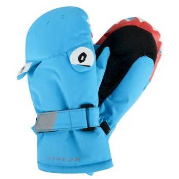 Dare2b Kids Look Out Mitt Gloves Shark Fluro Blue
