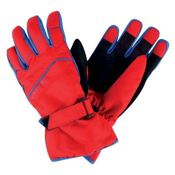Dare2b Kids Flag Down II Ski Gloves Code Red
