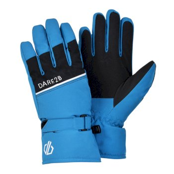 Dare 2b Boys' Unbeaten Waterproof Breathable Ski Gloves - Petrol Blue Black