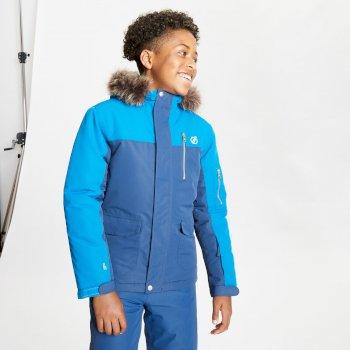 Furtive Skijacke mit Pelzbesatz für Jungen Blau
