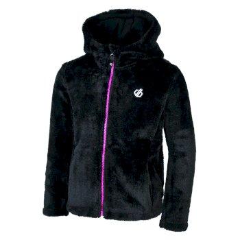 Prelim Fleece mit Kapuze und durchgehendem Reißverschluss für Mädchen Schwarz