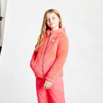 Prelim Fleece mit Kapuze und durchgehendem Reißverschluss für Mädchen Rosa