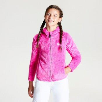 Prelim Fleece mit Kapuze und durchgehendem Reißverschluss für Mädchen Cyber Pink