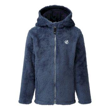 Prelim Fleece mit Kapuze und durchgehendem Reißverschluss für Mädchen Blau