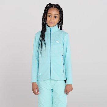 Inherit Fleece mit durchgehendem Reißverschluss für Mädchen Blau
