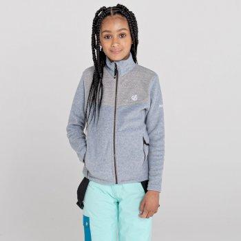 Inherit Fleece mit durchgehendem Reißverschluss für Mädchen Grau