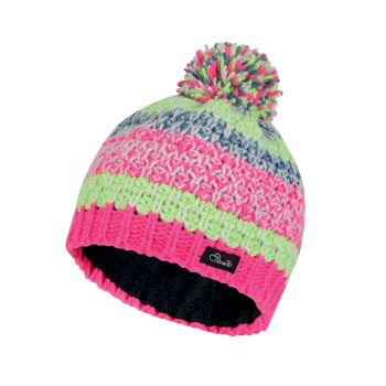 Dare2b Kids Superflash Bobble Beanie Hat Cyber Pink