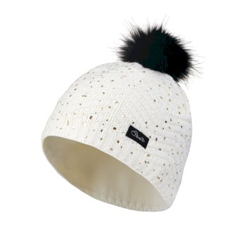 Dare2b Kids Splendid Bobble Beanie Hat White