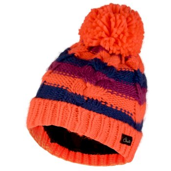 Dare2b Kids Candies Bobble Beanie Hat Fiery Coral