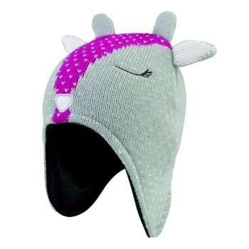 Dare2b Girls' Brainwave Animal Beanie - Grey Deer