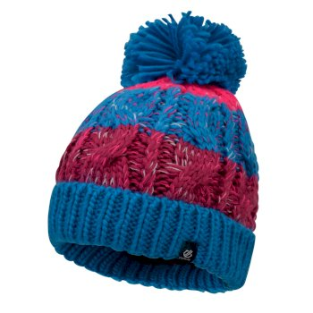 Dare2b Girls' Lively Bobble Hat - Atlantic Blue