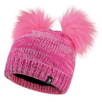 Hastily - Mädchen Bommelmütze Cyber Pink Fuchsia