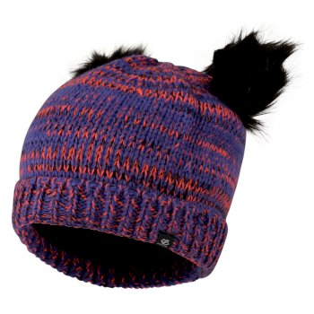 Hastily - Mädchen Bommelmütze Simply Purple Fiery Coral