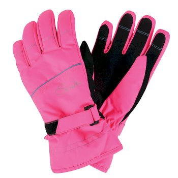 Dare2b Kids Hand Pick II Ski Gloves Cyber Pink