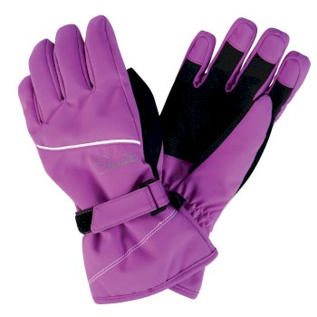 Dare2b Kids Instruct Ski Gloves Ultra Violet Purple