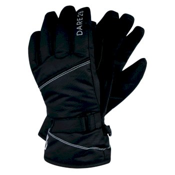 Dare 2b Girls' Impish Waterproof Insulated Ski Gloves - Black