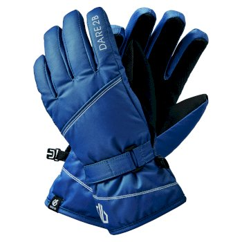 Dare 2b Girls' Impish Waterproof Insulated Ski Gloves - Dark Denim