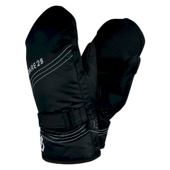 Dare 2b Girls' Stormy Waterproof Insulated Ski Mitts - Black