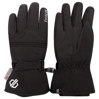 Dare 2b Girls' Liveliness Waterproof Breathable Ski Gloves - Black